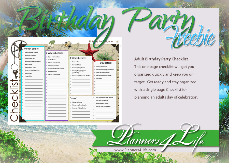 birthdays birthday party planner guest list for adults
