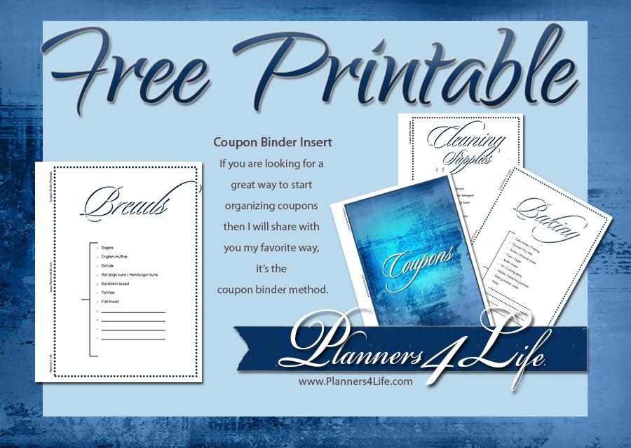 everything else coupon binder inserts blue