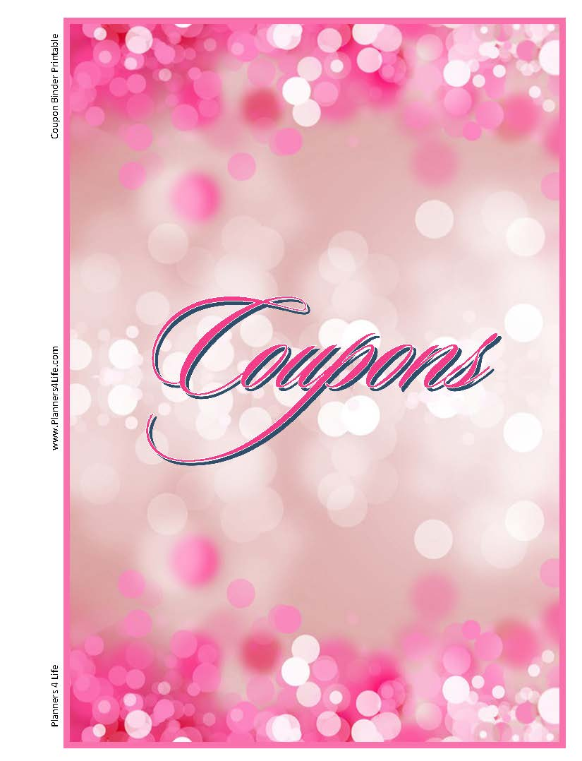 everything else coupon binder inserts pink
