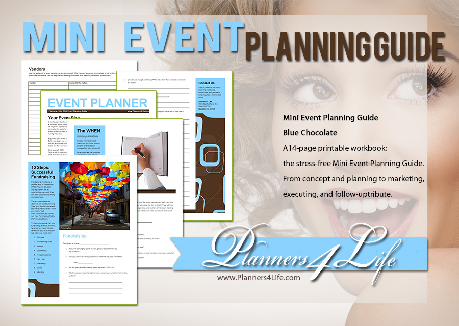 funerals event planner blue chocolate mini