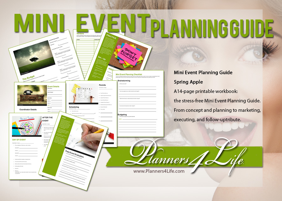 children event planner spring apple mini
